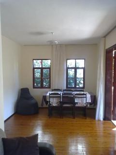 dining room end with curtains open