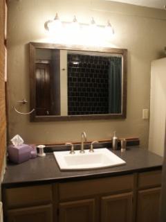 Full Bathroom with New Vanity, Lighting, Slate