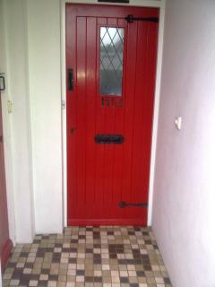 Entrance door to the apartment