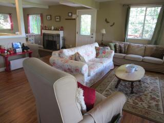 Open and spacious.Pull out couch offers additional sleeping arrangements.