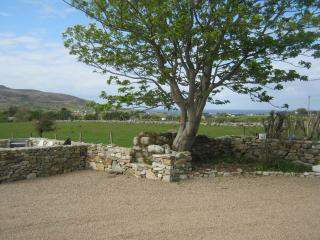 Front of Mia's Donegal Cottage Sea View looking across the Wild Atlanctic Ocean.