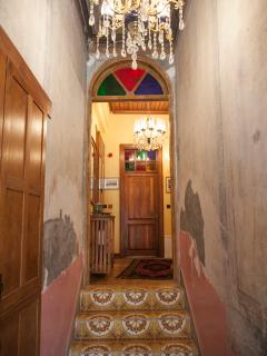 Apartment Main Entryway-Original Ceiling and wall paintings