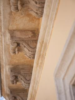 110 year old original handmade soffit corbels-Carved Malta Stone.