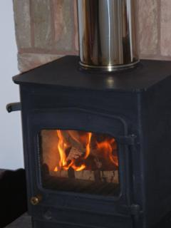 Wood burning stove for cosy nights in !