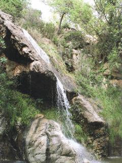 The waterfall in Barranco Blanco where many advertisements have been shot.