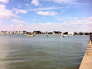 Mudeford quay on Christchurch harbour, a pleasant 15 minute walk along the seafront