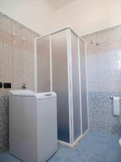 The bathroom of one of four villas