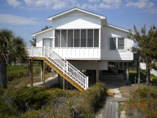 Beach house on shore of Folly Beach, S Carolina