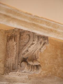 Soffit corbels-sonework original malta stone