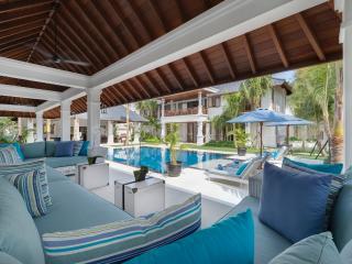Lounge area by the pool at Windu Asri by Windu Villas