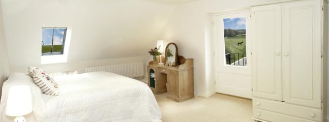 Bedroom 1, made up as double. This bedroom has full sized single permanently in room (behind camera)