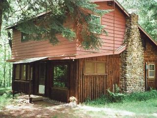 Original Log Cottage on 12 Wooded Lakeshore Acres, Barnes