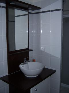 Part of the shower room.