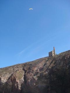 hang gliders at Wheal Coates
