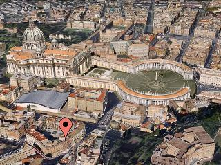 Apartment location. Just 300 feet from St. Peter's Basilica