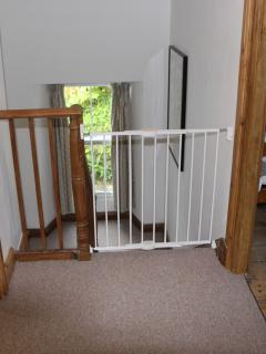 Cottage includes stair gates, travel cot, high chair and pen