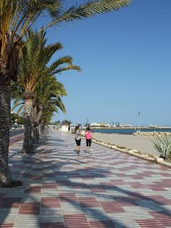 The promenade near the beach