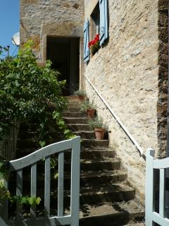 Steps leading to the front door