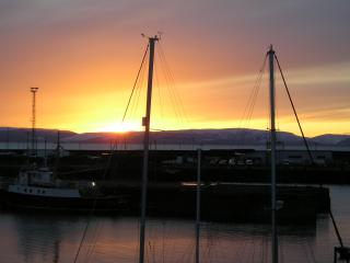 Marina Sunset. Winter sunsets here can be as beautiful as summer sunsets.