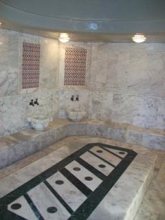 A turkish bath, one of many on site amenities