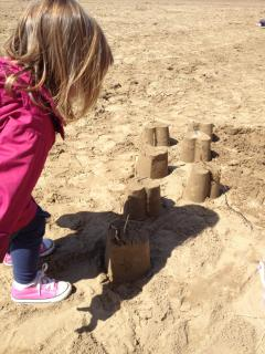 Sandcastles on the local beach
