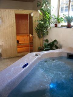 Spa and sauna in the health suite - bookable for private use