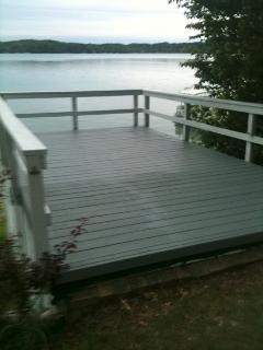 Sun deck on top of the boathouse