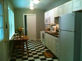 Fully equipped kitchen and laundry area