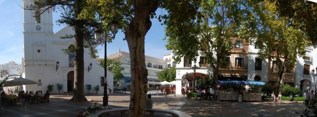 Nerja square , a lovely place to watch the world go by.