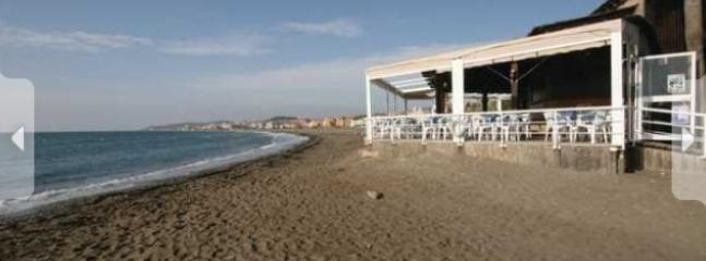 This is your local beach and restuarant, a 5 minute walk  from the apartment.