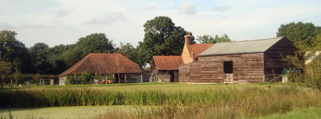 The Farm. A traditional Kent smallholding of 22 acres.