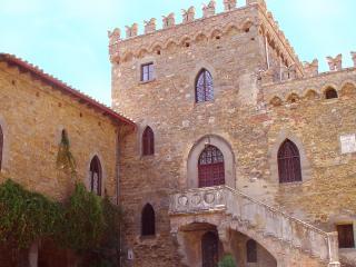 Yard of the Borgia Castle on the Trasimeno lake at the border of Tuscany and Umbria