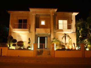luxury blue villa