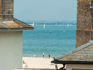 View from solent bedroom, Through houses opposite