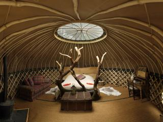 Coracle, luxury yurt at Crafty Camping