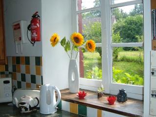 Open plan kitchen - views to the garden