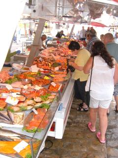 Fish market at La Chatre, every Saturday