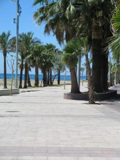 Paseo maritimo, ideal para paseos en bici o andando junto al mar