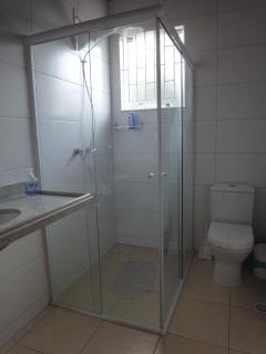 one of the three complete bathrooms downstairs