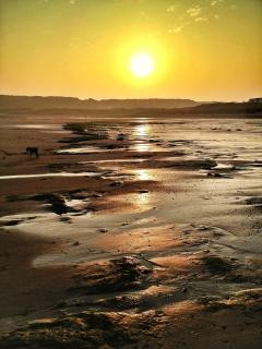 Sunset on Port Eynon Beach