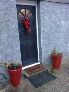 Front door at Christmas