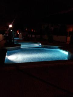 Pools in the evening