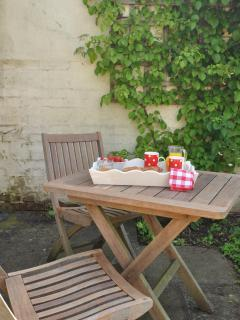 Enjoy breakfast on the Terrace overlooking the garden