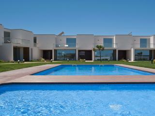 Perspective of the swimming pool & villas