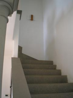 Stone (pietra serena) staircase to the first floor