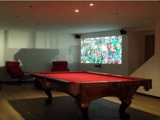 Games room with 8'x4' pool table and home cinema