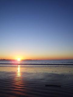 bonita puesta de sol
