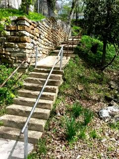 Jacob's Ladder...the way to get downtown from the Cottages
