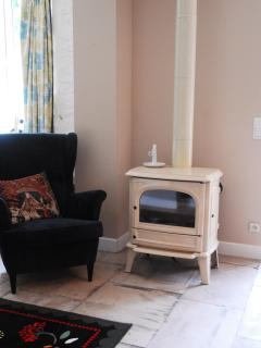Spring Cottage now has a log fired stove for cosy autumn/winter holidays