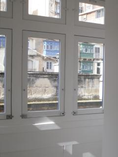 Double glazed wooden Maltese balcony